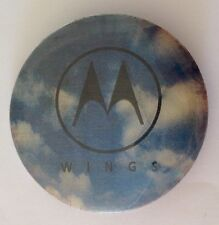 Motorola Wings Mobile Phone Hologram Button Badge Pin Authentic Vintage (N12)
