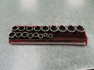 Mac Tools V6 Sockets 1/2 Inch Drive 17 Piece Set Missing a few