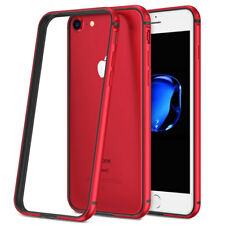 HybridALUMINUM Metal Bumper For iPhone X 8 Plus Luxury Rugged Rubber Case Cover