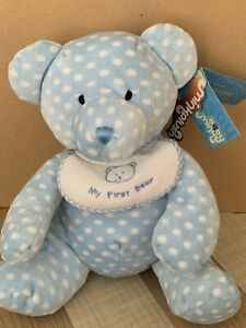 Minkplush by Tomfoolery Bubba My First Teddy Bear  25 CM Brand New With Tags