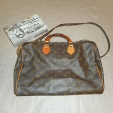 LOUIS VUITTON Doctor Brown Gold Zipper Detachable Strap Handbag Purse