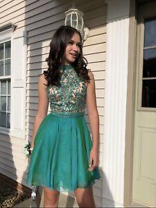 Sherri Hill homecoming dress size 2 Jade Green