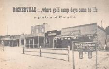 SD, South Dakota    ROCKERVILLE GOLD TOWN   Ghost Town US 16   Roadside Postcard