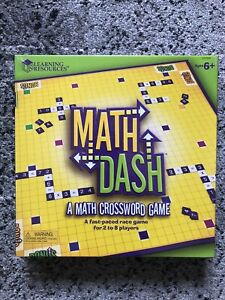 Learning Resources Math Dash Game Math 2-8 players Perfect For Classroom NEW