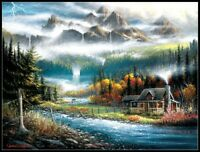 Valley Paradise - Chart DIY Counted Cross Stitch Patterns Needlework