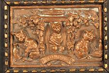 Admirarse bronce cobre relieve en miniatura probablemente Viena aprox. 1900