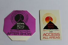 Earth Wind & Fire  EWF - 2 x Backstage Pass  -  - FREE POSTAGE -