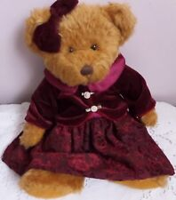 "Russ Vintage Collection Lady Louisa Plush Light Brown Teddy Bear 12 1/2"" Tall"