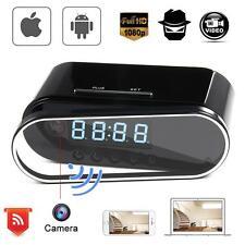 Mini WIFI 1080P Night Vision HD Spy Hidden Camera Clock P2P Motion Detection KJ#