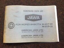 Jawa Babetta Moped M-207-011 , OEM  Spare Parts  Re-Print  Manual 1975