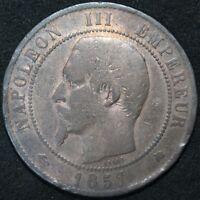 1857 K   France 10 Centimes   Bronze   Coins   KM Coins