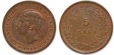 PORTUGAL 5 REIS 1910 KM#555 MANUEL II UNC!!!