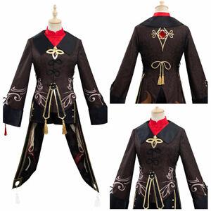 Genshin Impact HuTao Cosplay Costume Outfits Halloween Carnival Suit