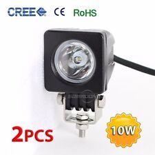 2pcs 10W 12V/24V CREE LED Work Light Spot Square Offroad SUV ATV 4WD 4X4 Vehicle