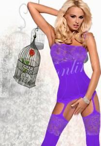 Hot Halter Open Crotch Body stocking Fishnet Bodysuit Lingerie Floral Nightwear
