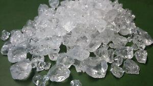 1 kg GLASKIES KLAR / TRANSPARENT, Glassplitt,Glasgranulat,Gartenkies ca 4-10 mm