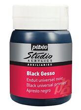 Pébéo peinture Acryliques Noir 1 Pot de 500 ml