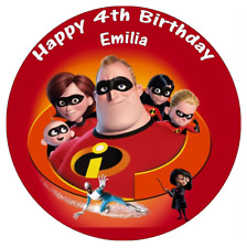 "The Incredibles Personalised Cake Topper 7.5"" Edible Wafer Paper Birthday's"