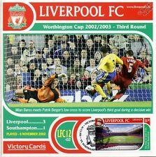 Liverpool 2002-03 Southampton (Milan Baros) Football Stamp Victory Card #212