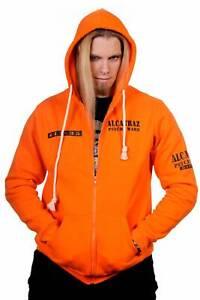 Men's Orange Gothic Retro Punk Alcatraz Psycho Ward Prison Hoodie BANNED Apparel