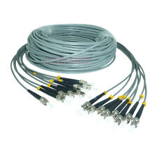 60M Armored Cable ST UPC-ST UPC  Multi-Mode 8 Strand Fiber Optical Patch Cord
