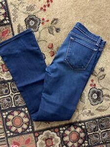 J Brand Women's The Boot Cut Mid-Rise Jeans, Dark Vintage Sz 28 MSRP $188