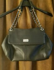 Women's Nine West purse handbag sleek black Large tote with straps