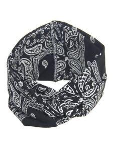 Yoga Sport Elastic Floral Hair Band Black Knotted Turban Twisted Women Headband