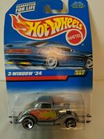Hot Wheels 3-Window '34 Gray Collector #257