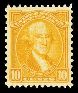 Scott 715 1932 10c Orange Yellow Washington Issue Mint VF OG LH Cat $9