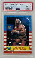 HULK HOGAN 1987 O-PEE-CHEE OPC WWF Wrestling CARD #3 HULKAMANIA PSA 4