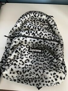 Supreme White Leopard Backpack New Never Used