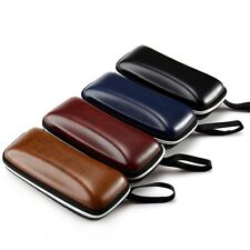 1Pes Leather Sunglasses Case Zipper Waterproof Sun Glasses Eyewear Storage Box