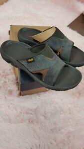 Teva  Men Sandals  Sz 10 Suede New  Color Gray