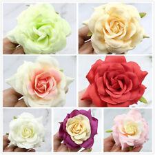 "30/50 Large 3.5"" Fake Rose Lot Artificial Silk Flower Heads Wedding Home Decor"