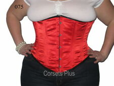 Satin Glamour Underbust Strap Basques & Corsets for Women