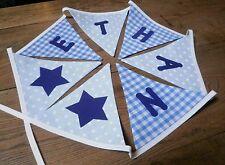 Personalised Name Bunting Boys Blues, £1.25 PER FLAG