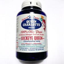 Queen Charlotte 100% Olio Puro Salmone Selvaggio Rosso - Omega 3 - 120 Cps