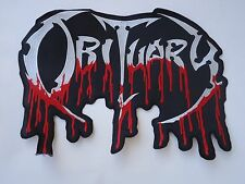 OBITUARY DEATH METAL EMBROIDERED BACK PATCH
