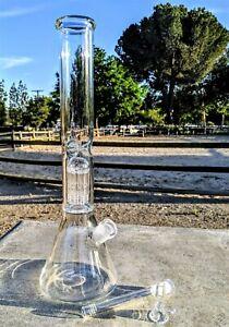 16 Inch Big Heavy Tree Perc Glass Bong Quality Tobacco Smoking Water Pipe Hookah