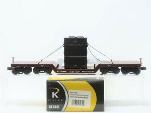 O Gauge 3-Rail K-Line K692-1391 RI Rock Island Flat Car #92000 w/ Transformer