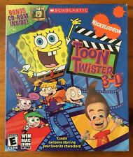 NEW SEALED Nickelodeon Toon Twister 3-D Windows Mac Bonus CD-ROM WayForward