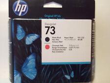 HP 73 DesignJet Printhead Ink Cartridges Matte Black / Chromatic Red CD949A 2022