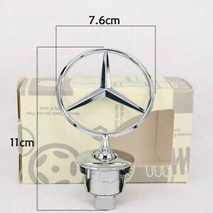 For 1248800086 Mercedes Benz Chrome Front Hood Ornament OEM Mounted Emblem C E S