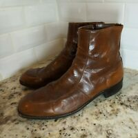 "VINTAGE Brown Wright Breather Arch Preserver Ankle ""BEATLES"" Boots Sz 10.5 D"