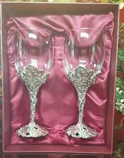 Aruthur Court Grape Wine Glasses Set of 2 Nib