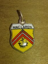MacLaren Mac Laren Coat of Arms / Family Crest Silver Plated Enamel Charm
