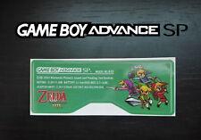 Etiquette Arrière / Back Sticker Zelda Four Swords Game Boy Advance SP GBA SP