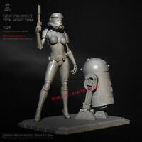 Female Soldier 1/24 Unpainted H120mm Resin Model Kit Unassembled Garage Kit GK