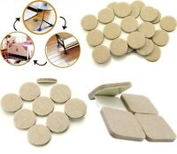 BEIGE Square Round FELT PADS ~ VHB Self Adhesive Sticky Pads for Furniture Legs